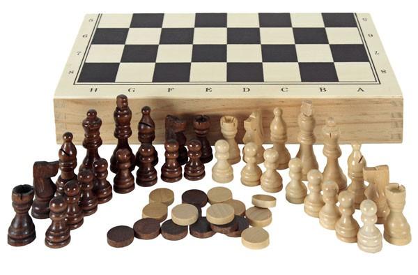 Estuche de ajedrez, damas y...