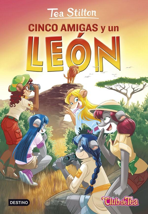 Cinco amigas y un león