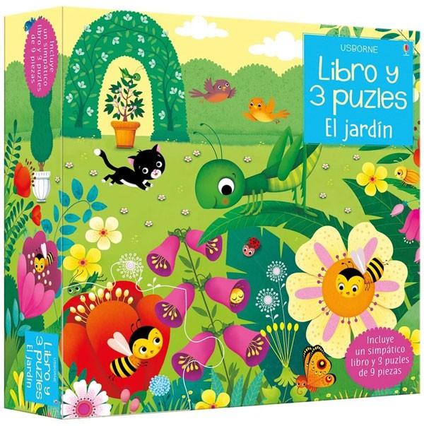 Libro y 3 puzzle - El jardín