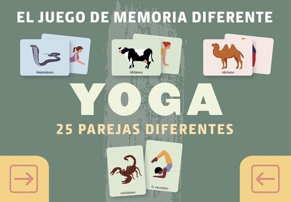 Yoga. Juego de memoria...