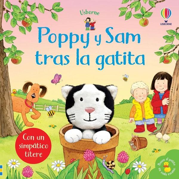 Poppy y Sam tras la gatita....