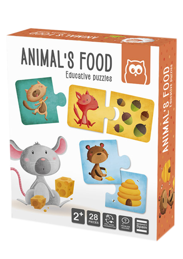 Puzle educativo. Animal´s food