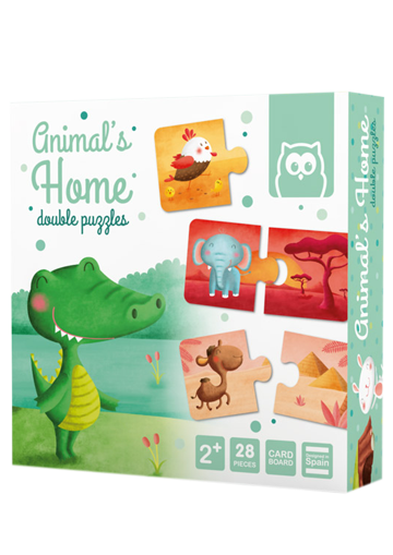 Puzle educativo. Animal´s home