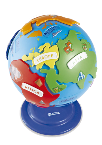 Puzzle globe - Discover the...