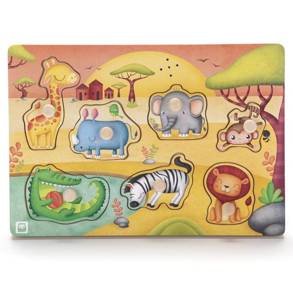 Puzzle musical. Animales de...
