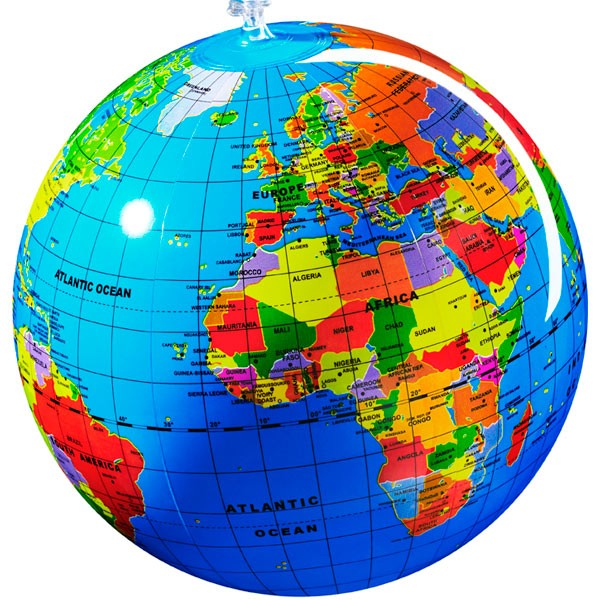 Globo inflable - Geografía...